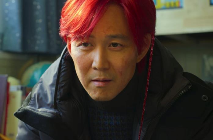 Gin-hun con i capelli rossi nel finale di Squid Game