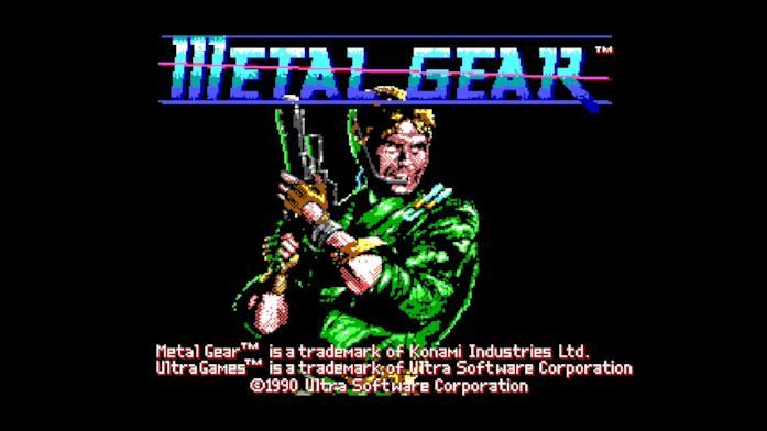 Il main title del primo Metal Gear