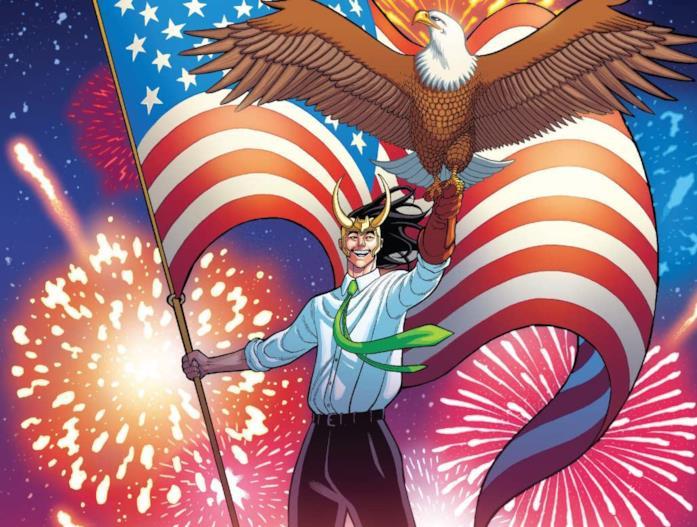 Dettaglio della cover di Vote Loki #4