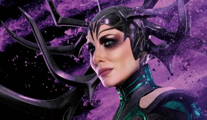 Hela in un poster promozionale di Thor: Ragnaork