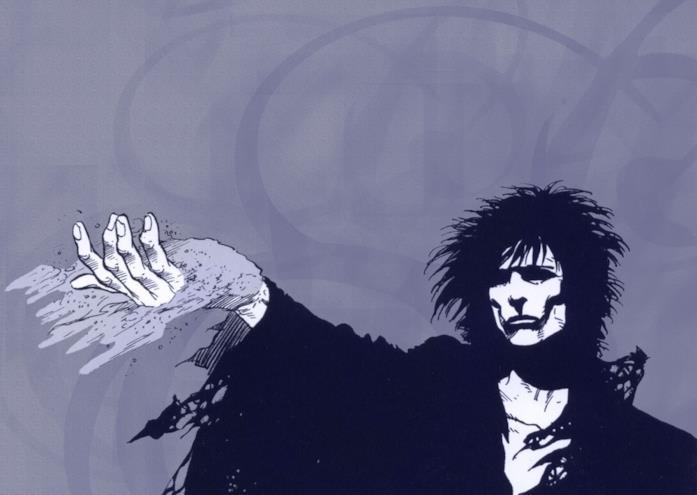 Un'immagine del Signore dei Sogni nel fumetto Sandman di Neil Gaiman