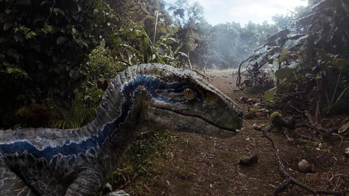 Blue, il velociraptor protagonista del videogame