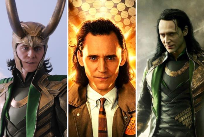Loki in tre delle sue versioni