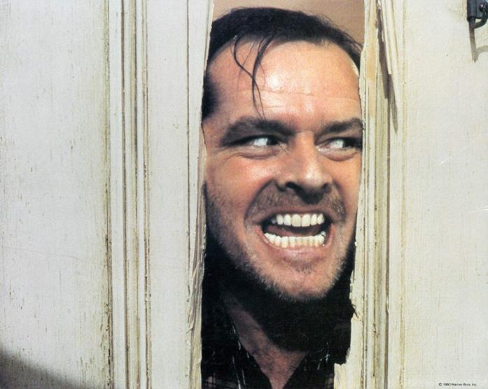 Jack Nicholson in una scena del film Shining