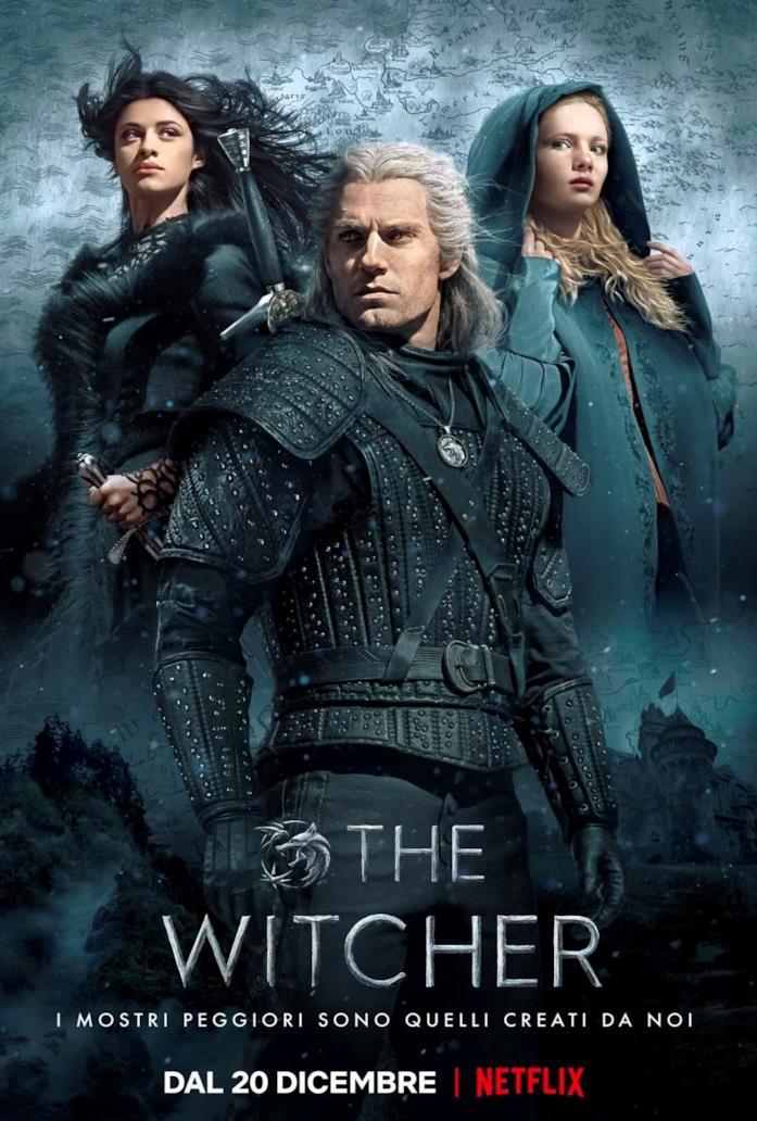 Il poster promozionale di The Witcher di Netflix