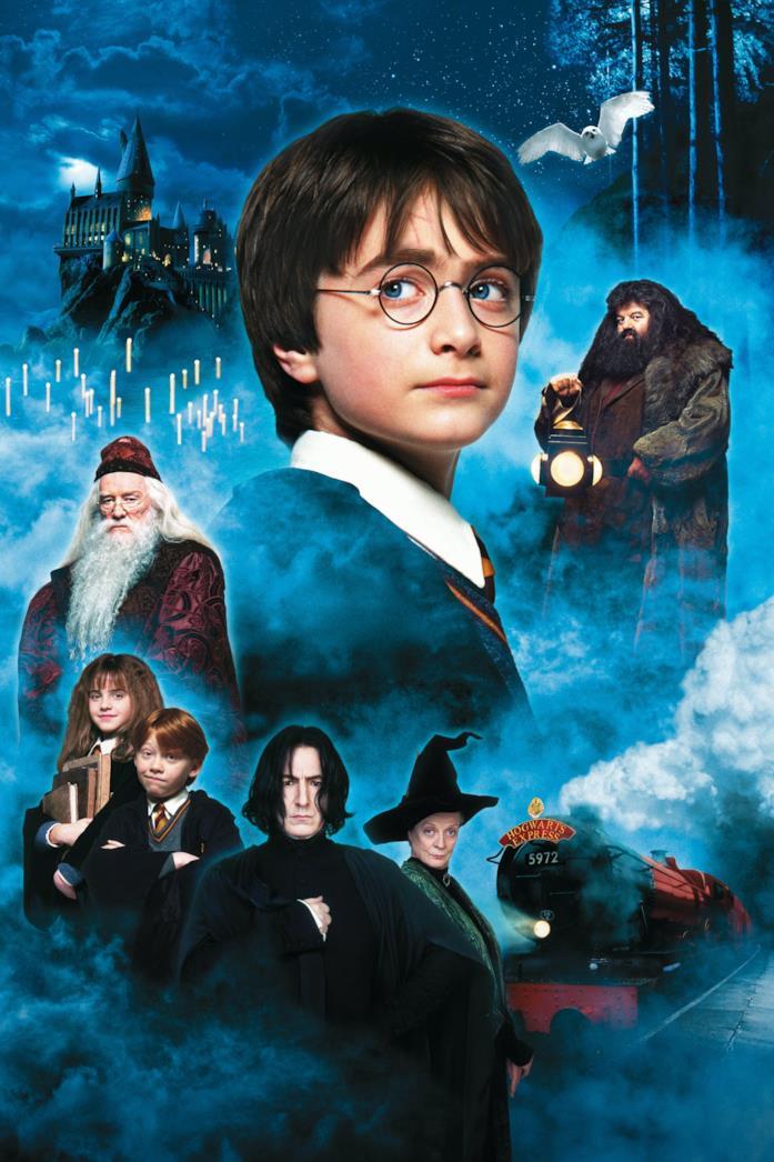 Il cast nella locandina di Harry Potter e la Pietra Filosofale