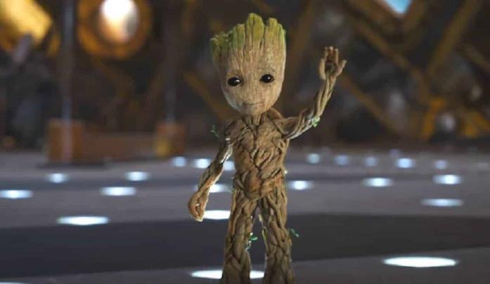 Una statuetta di Baby Groot era usata come punto di riferimento dal cast