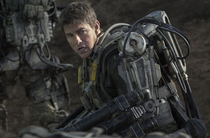 Tom Cruise in una scena di Edge of Tomorrow