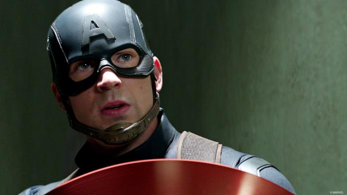 Chris Evans come Capitan America nel Marvel Cinematic Universe