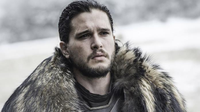 Kit Harington nei panni di Jon Snow in Game of Thrones 7