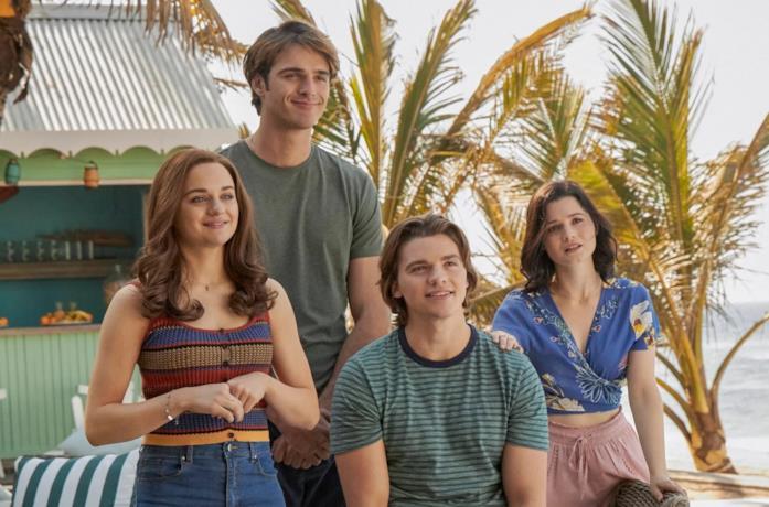 Elle, Noah, Lee e Rachel, protagonisti di The Kissing Booth 3