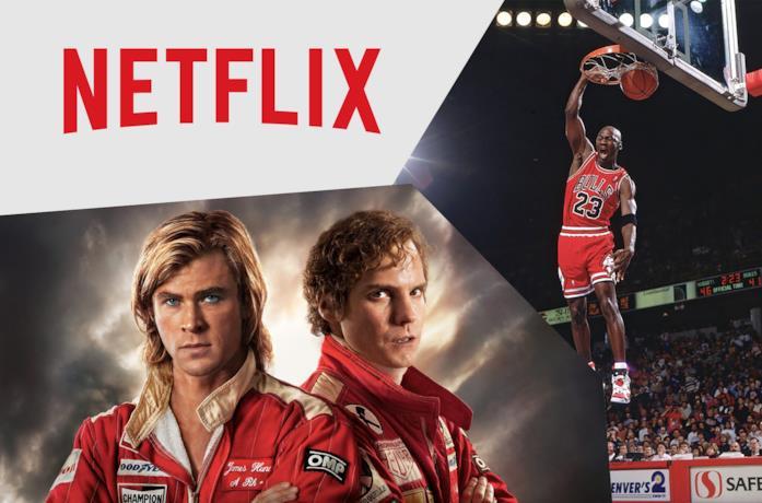 Il poster di Rush (sinistra) e Michael Jordan (destra)