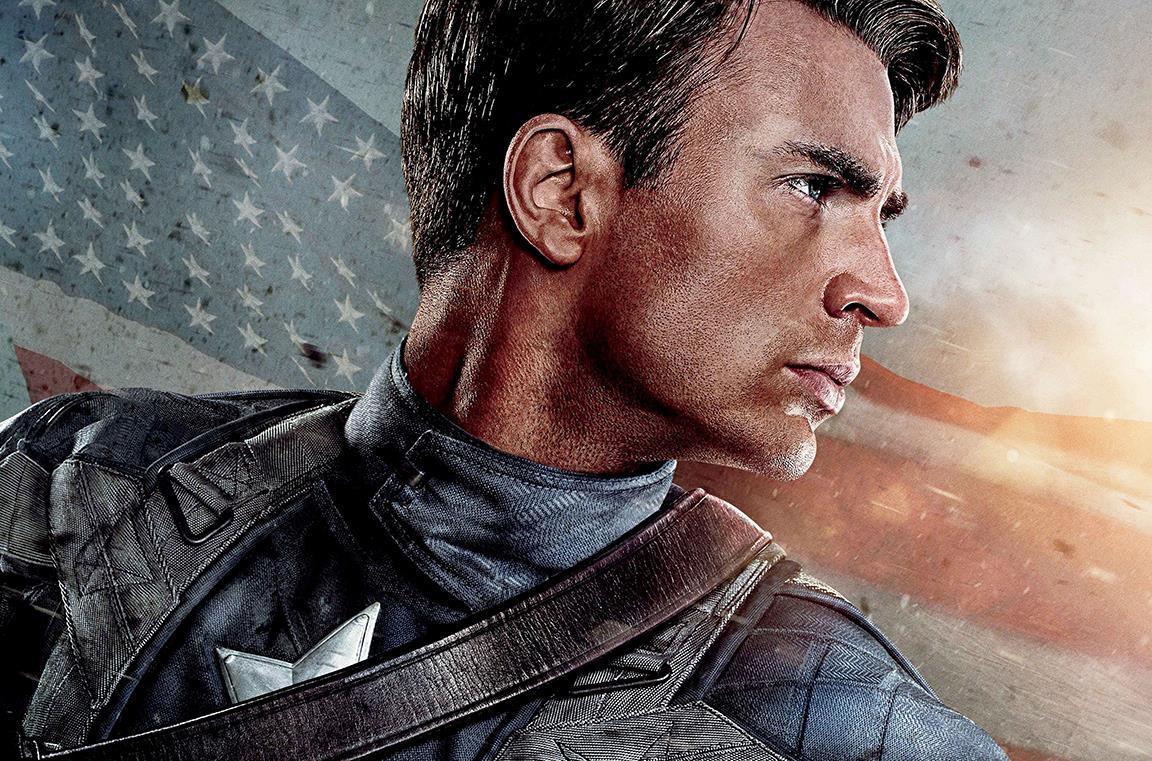 Captain America sulla locandina del film
