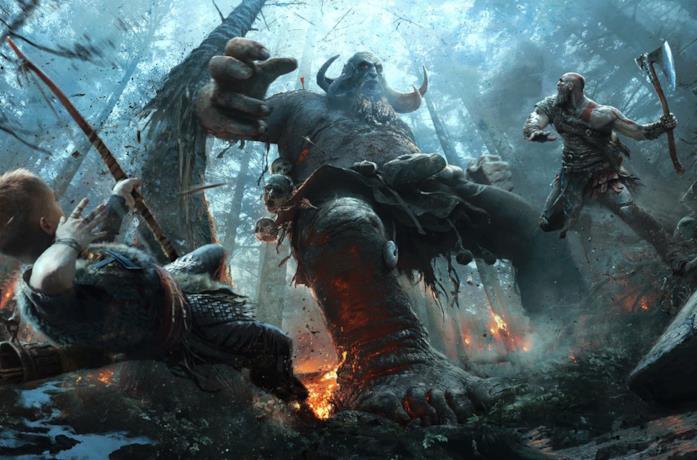 Immagine promozionale del gioco God of War per PlayStation 4