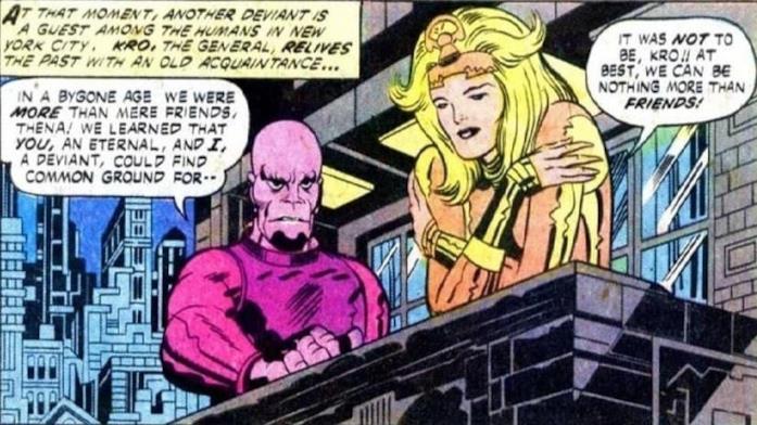 Kro e Thena nei fumetti