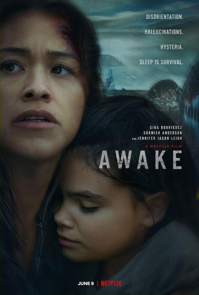 Il cast nella locandina di Awake