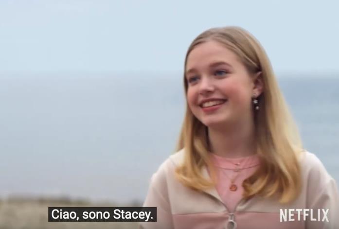 Stacey in una scena de Il club delle baby-sitter