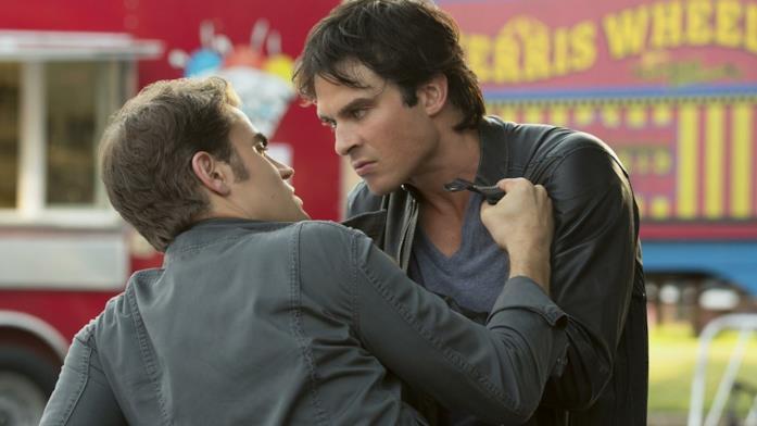 Damon e Stefan in The Vampire Diaries