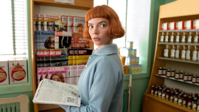 Anya Taylor-Joy interpreta Beth Harmon nella serie Netflix La regina degli scacchi