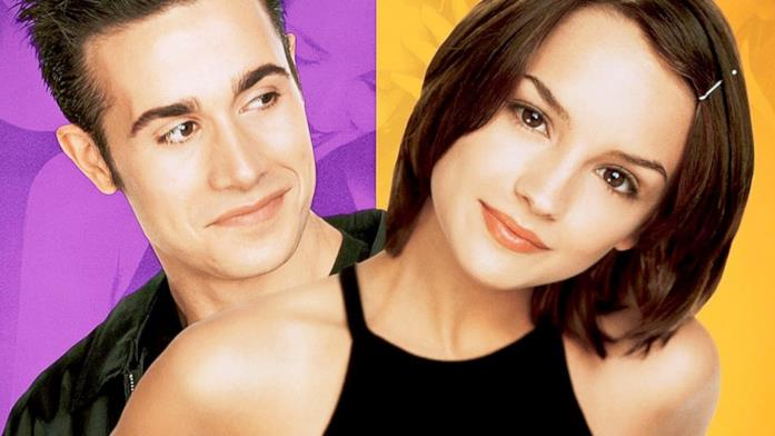 Freddie Prinze Jr. e Rachael Leigh Cook nel poster promozionale di Kiss Me