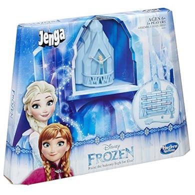 Jenga Hasbro B4503 Family Game - Disney Frozen Elsa - Solleva Il Balcone Giocattolo - Stacking Tumble Tower