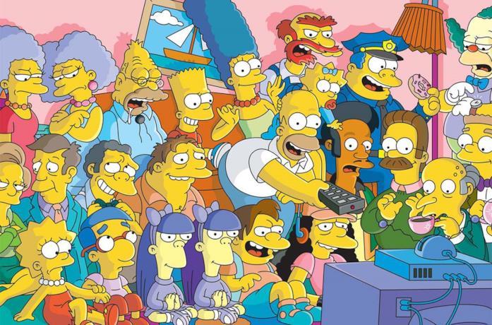 Una scena de I Simpson