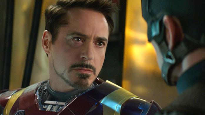 Robert Downy Jr. come Iron Man in Captain America: Civil War