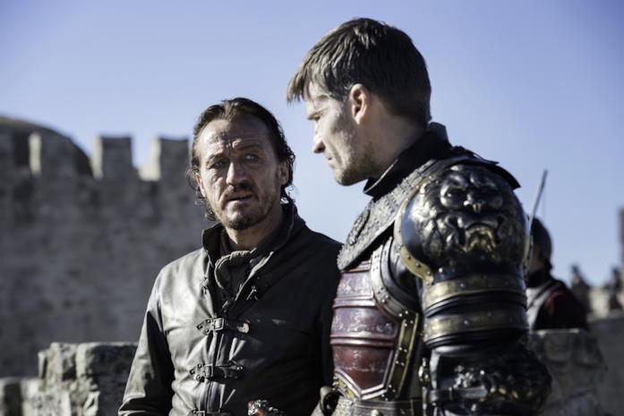 Bronn e Jaime sulle mure