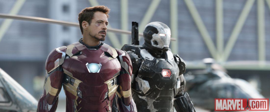 Iron Man e War Machine in Capitan America: Civil War