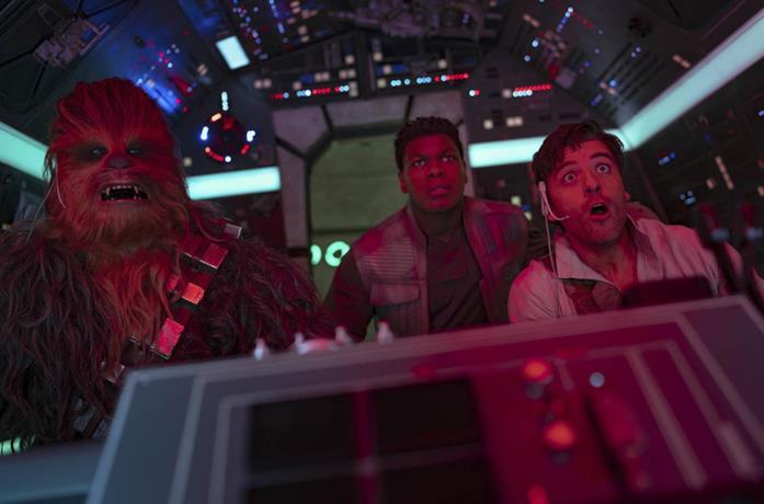 Chewbe, Poe e Finn in Star Wars:L'ascesa di Skywalker