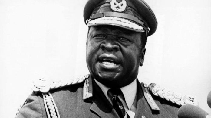 Una foto del dittatore sanguinario Idi Amin Dada