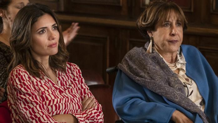 Serena Rossi e Marina Confalone, che interpreta la madre di Mina, Olga