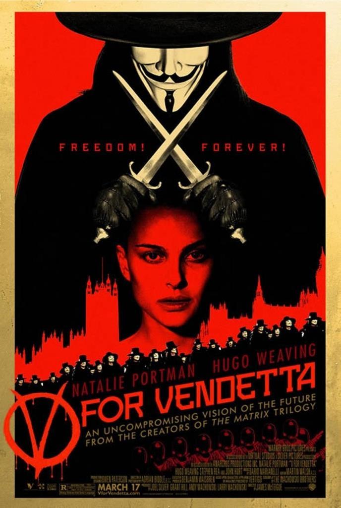 La locandina di V per Vendetta