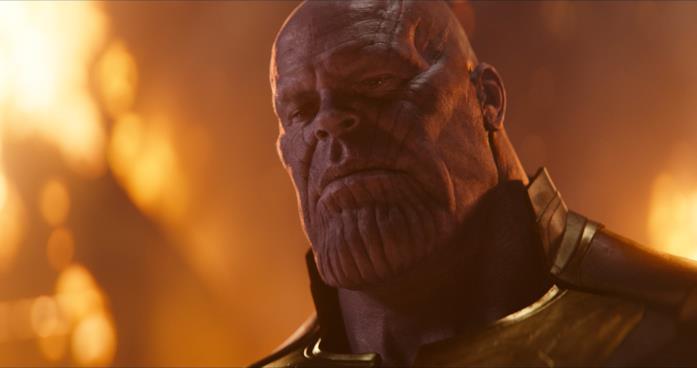 Josh Brolin nei panni di Thanos in Avengers: Infinity War