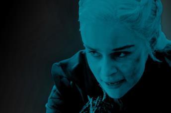 Daenerys con sguardo omicida in GoT 8x05