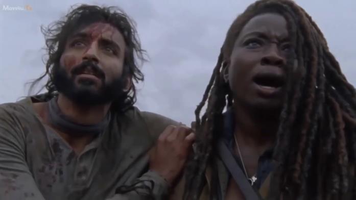 The Walking Dead: Siddiq e Michonne nell'episodio 9x15