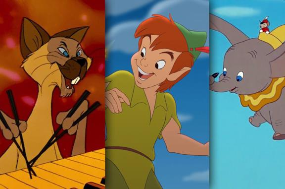 Da sinistra: gli Aristogatti, Peter Pan e Dumbo