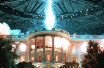 Una scena del primo Independence Day
