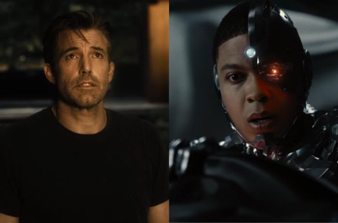 Batman e Cyborg nel film