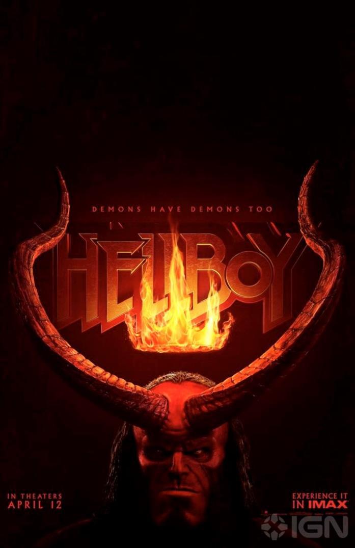 Hellboy: il nuovo poster con le corna infuocate