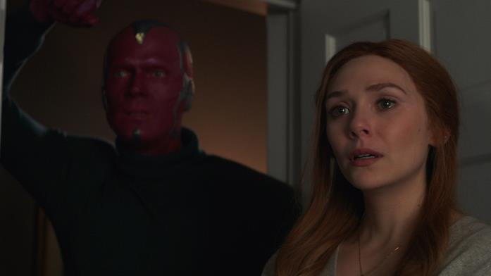 Paul Bettany ed Elizabeth Olsen in WandaVision