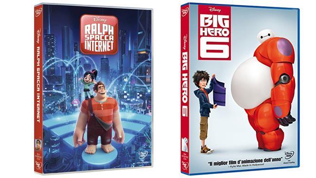 Big Hero 6 e  Ralph spacca internet - i due film in formato DVD