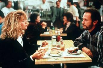 Una scena di Harry ti presento Sally ambientata al ristorante
