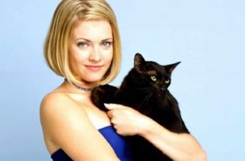 Sabrina con il gatto Salem