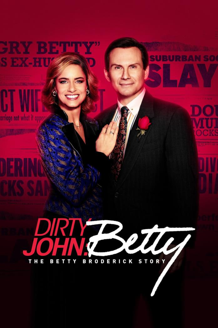 Amanda Peet e Christian Slater nel poster di Dirty John: The Betty Broderick Story