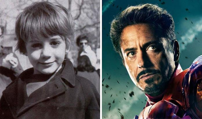 Robert Downey Jr. (Iron Man) da bambino e nei film Marvel
