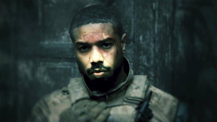 Michael B. Jordan in una scena del film