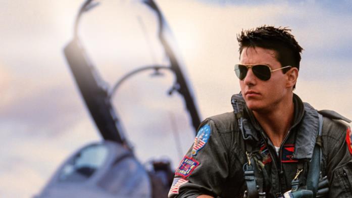 Primo piano di Tom Cruise in Top Gun