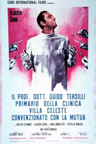 Poster Il prof. Dott. Guido Tersilli, primario della clinica Villa Celeste convenzionata con le mutue