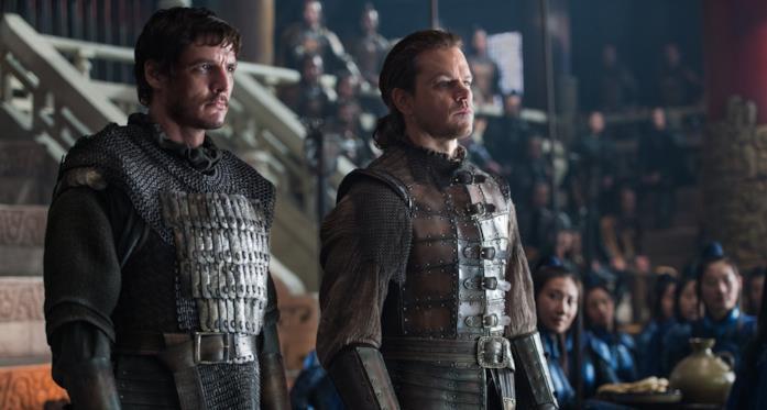 Pedro Pascale e Matt Damon in una scena di The Great Wall